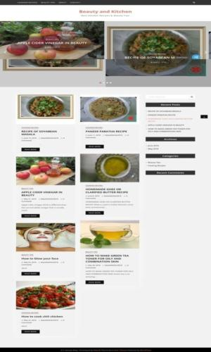 A Cooking Blog