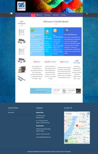 Simple Website for a Company